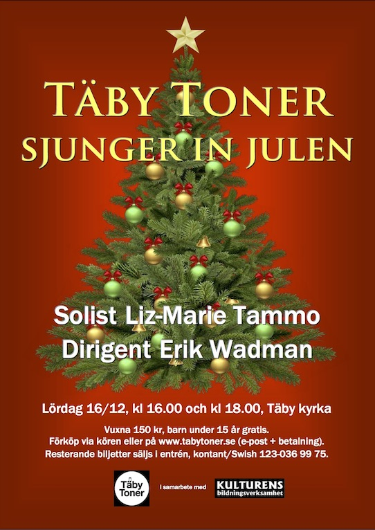 Affisch om julkonserten 2017